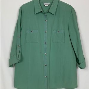Graff mint green 3/4 length sleeves shirt size XL